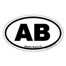 Atlantic Beach Florida AB Euro Oval Decal