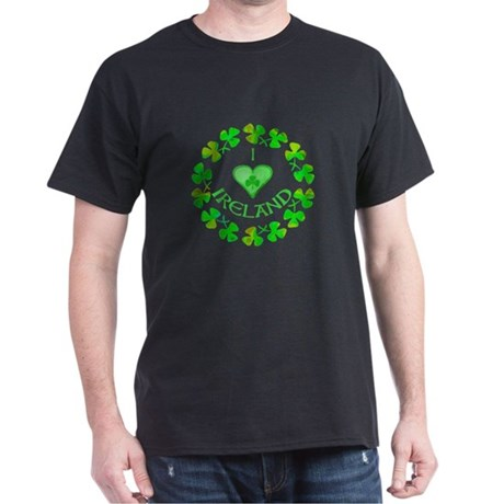 I Heart Ireland Black T-Shirt
