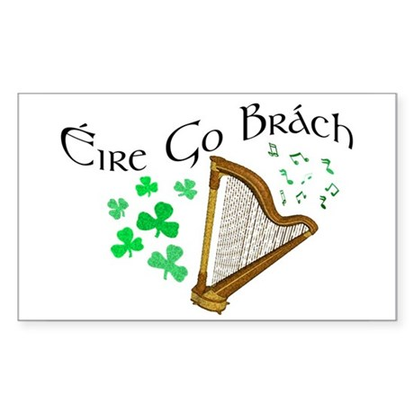 Éire Go Brách Rectangle Sticker