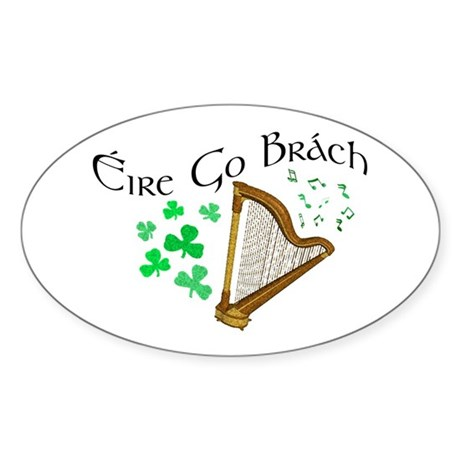 ire Go Brch Oval Sticker
