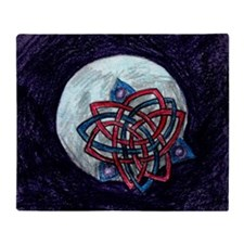 Celtic Moon Sketch Blanket (one-sided)