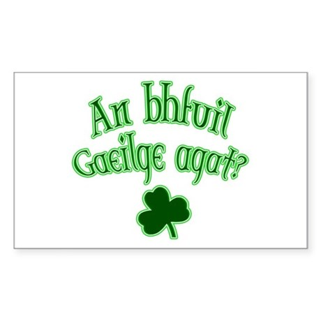 Speak Irish? Rectangle Sticker
