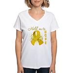 Neuroblastoma Women's V-Neck T-Shirt