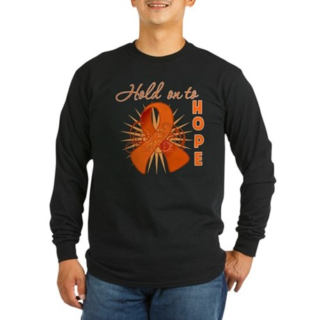 Kidney Cancer Long Sleeve Dark T-Shirt