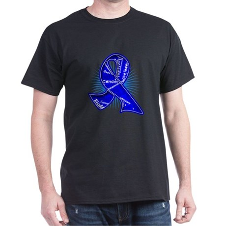 Colon Cancer Slogan Watermark Dark T-Shirt