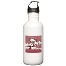 fly fishing trout Water Bottle