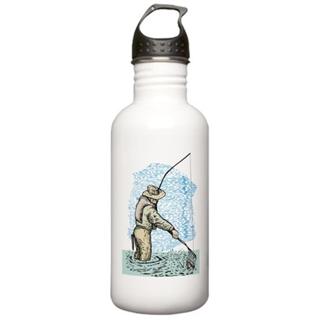 Fly fishing trout Stainless Water Bottle 1.0L