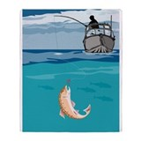 fly fishing trout Throw Blanket