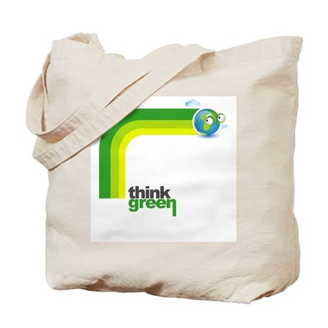Think Green Earth Rainbow Tote Bag