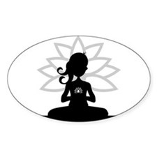 Yoga Girl Silhouette Bumper Stickers
