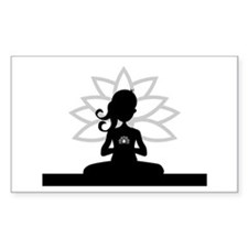 Yoga Girl Silhouette Decal