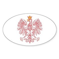 Polish Eagle Outlined In Red Decal