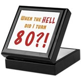 80th Birthday Attitude Keepsake Box