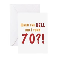 70th Birthday Attitude Greeting Card