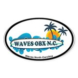 Waves NC - Surf Design Decal