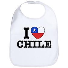 I Love Chile Bib