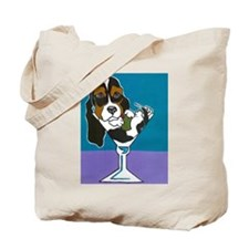 Tri-Color Basset Hound Martin Tote Bag