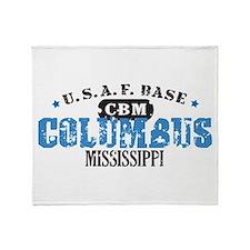Columbus Air Force Base Throw Blanket