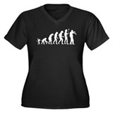 Evolution Undead Women's Plus Size V-Neck Dark T-S