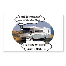 Ask For Directions !! Rectangle Decal