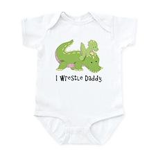 I Wrestle Daddy Alligator Infant Bodysuit
