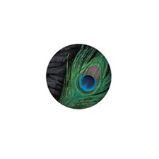 Black Velvet Peacock Mini Button (10 pack)