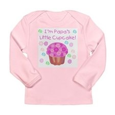 Papa's Little Cupcake Long Sleeve Infant T-Shirt