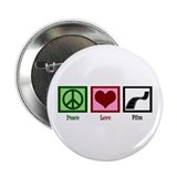 "Peace Love Film 2.25"" Button"