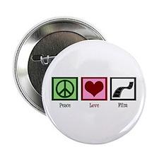 "Peace Love Film 2.25"" Button"