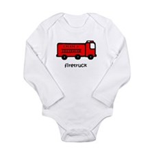 Firetruck Long Sleeve Infant Bodysuit