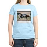 African Wild Dogs Photo (Front) Women's Pink T-Shi