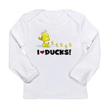 I Love Ducks Long Sleeve Infant T-Shirt