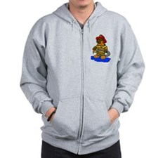 Mike the Firefighter Bear Zip Hoodie