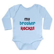 My Brother Rocks Long Sleeve Infant Bodysuit