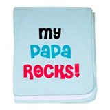 My Papa Rocks baby blanket