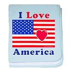 Heart America Flag baby blanket