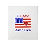 Heart America Flag Throw Blanket