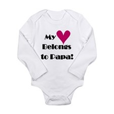 Heart Belongs to Papa Long Sleeve Infant Bodysuit