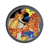 'HAWAII' airlines poster Wall Clock
