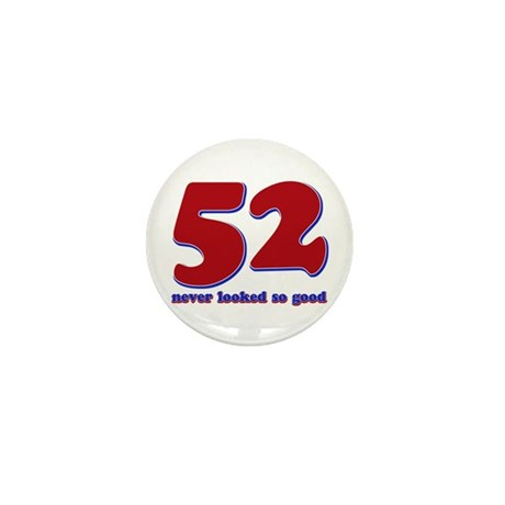 52 years never looked so good Mini Button (100 pac