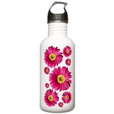 Pop Art Fuchsia Daisy Water Bottle