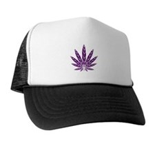 Purple Leaf Trucker Hat