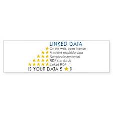Cute Linked data Bumper Sticker