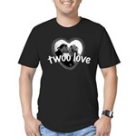 Twoo Love Princess Bride Men's Fitted T-Shirt (dar