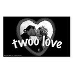 Twoo Love Princess Bride Sticker (Rectangle)