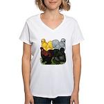 Silkie Assortment Women's V-Neck T-Shirt