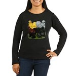 Silkie Assortment Women's Long Sleeve Dark T-Shirt