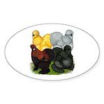 Silkie Assortment Sticker (Oval 50 pk)
