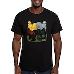Silkie Assortment Men's Fitted T-Shirt (dark)