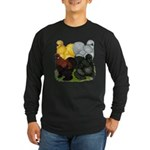 Silkie Assortment Long Sleeve Dark T-Shirt